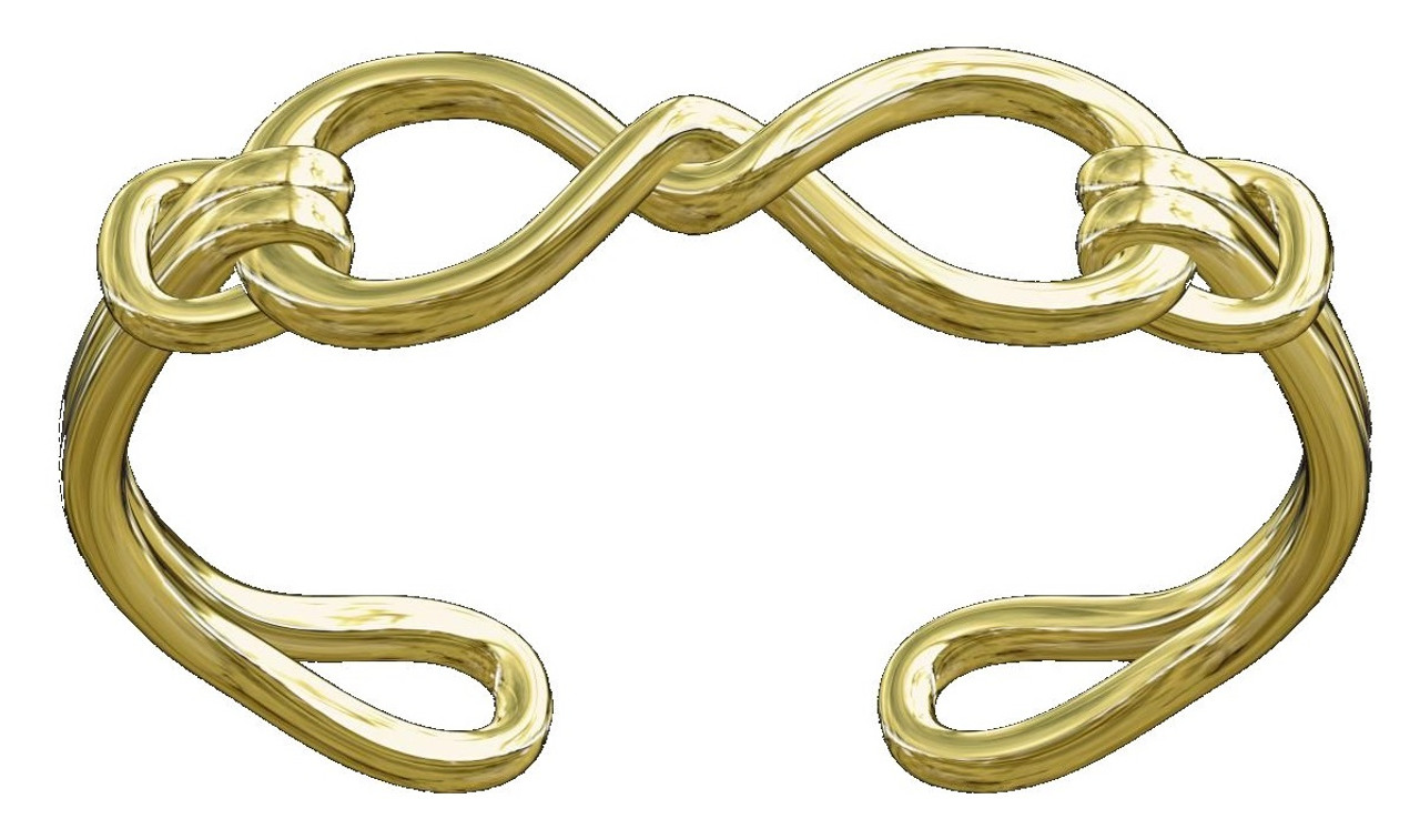 Infinity Knot Cuff Bracelet- 14K Gold. Wrap Yourself in Infinite Possibility