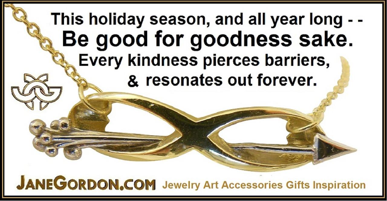 Infinity & Arrow Necklace- 14K gold