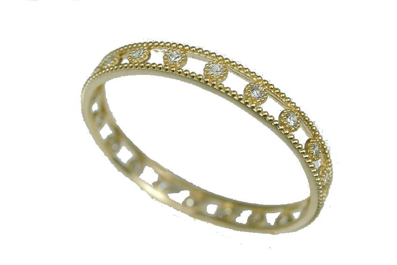 Capri- Gold & Sparkle-round bangle in sterling silver, 18K plate & CZ