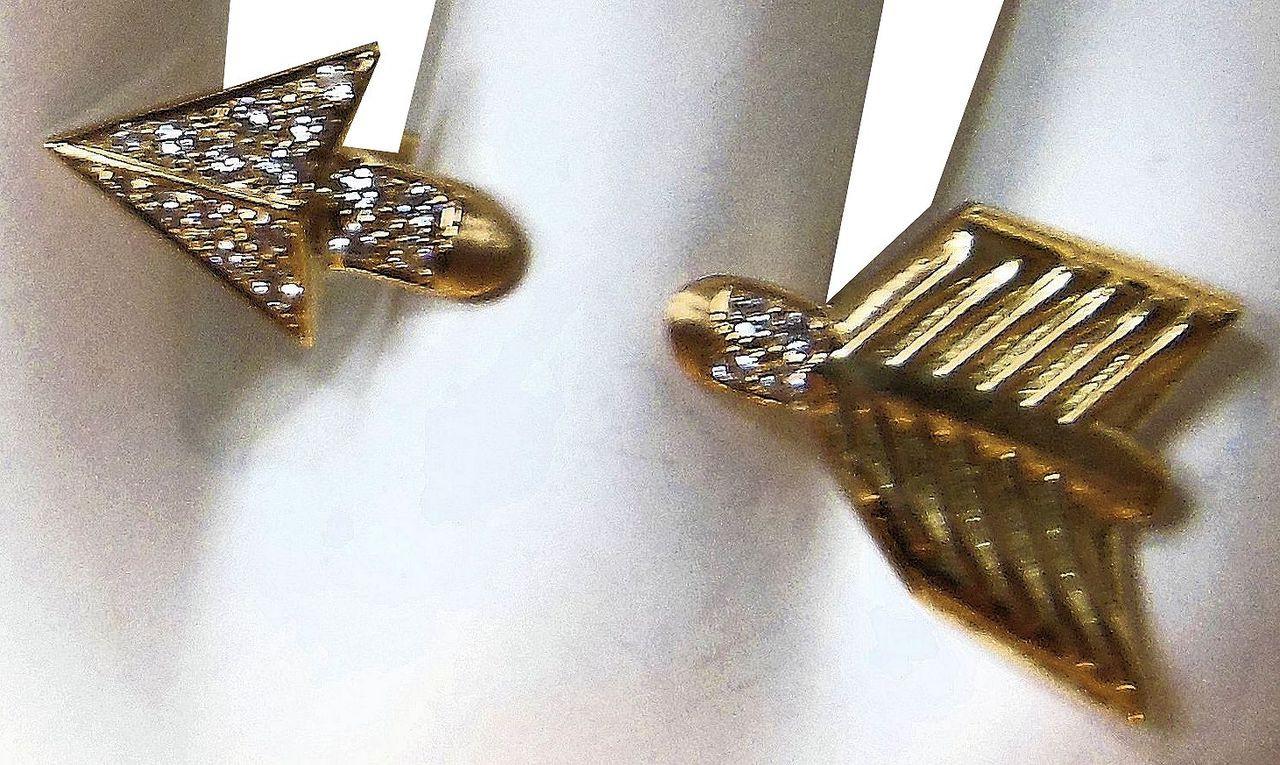 Illusion Piercing Arrow Ring-18K gold & diamonds