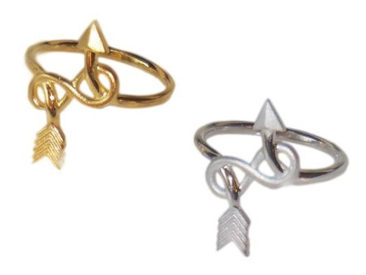 Arrow & Infinity Ring -18K gold