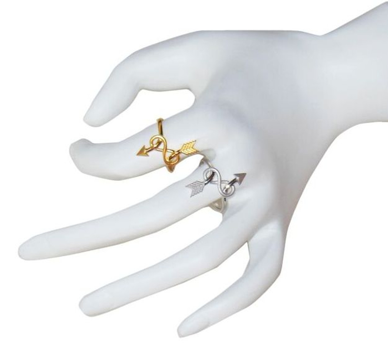 Arrow & Infinity Ring -14K gold