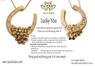 """""""LUCKY YOU""""  Head Games for a Better World.   Equestrian Jewelry with Life Messages."""