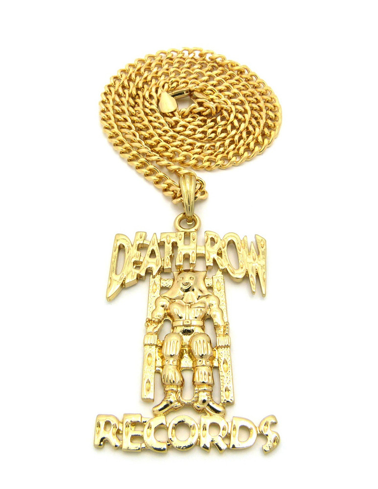 Death row records inspired 14k gold hip hop pendant bling jewelz death row records chain aloadofball Choice Image