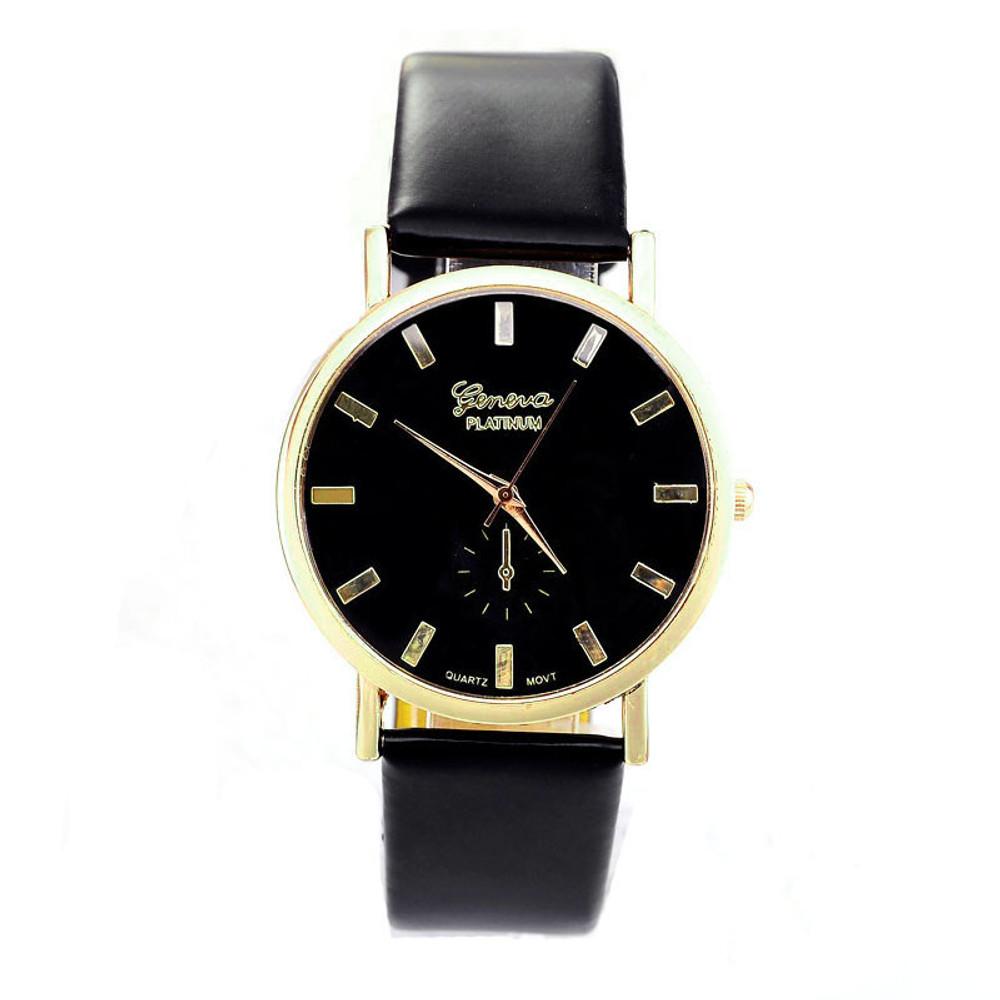Ladies Fashion Geneva Roman Leather Band Analog Quartz Watch