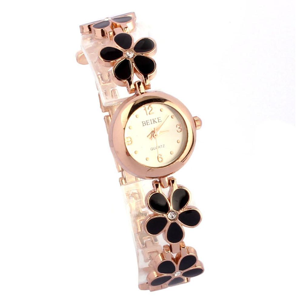 Fashion Daisies Flower Rose Gold Bracelet Wrist Watch
