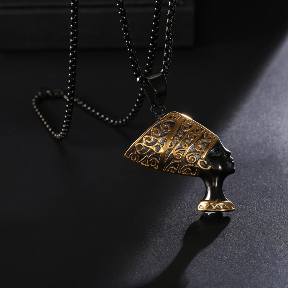 African Queen Nefertiti Pendant