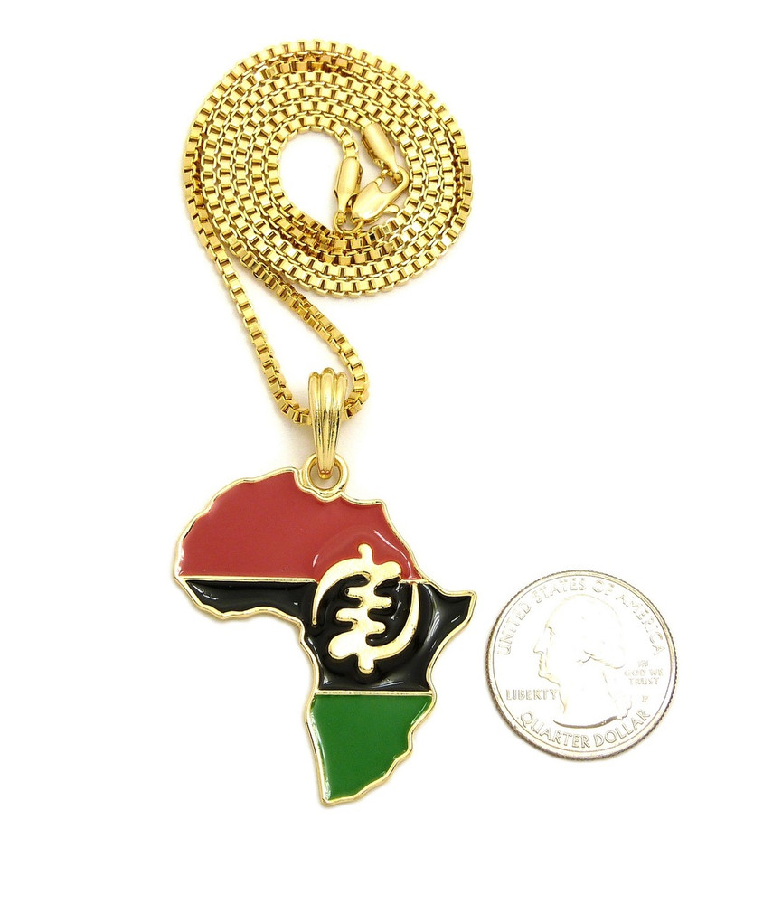 Mother Africa 14k Gold GP  Supremacy Of God Symbol Pendant
