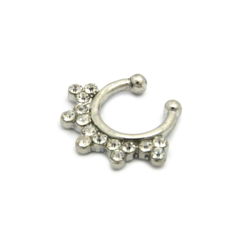 Diamond Cz Snowflakes Studded Nose Ring