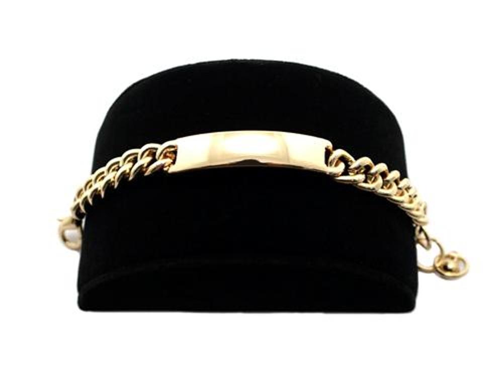 Rihanna Inspired Gold Small Chunky ID Bracelet