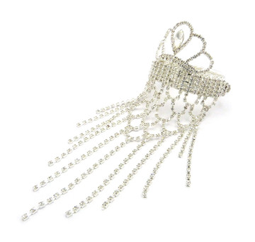 Ladies Queens Crown Sexy Ankle Arm Wrist Bling Cuff Bracelet Silver