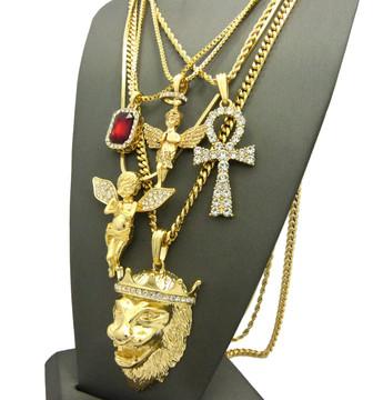 God of Peace Egyptian Ankh Cross Ultra Baller Hip Hop Chains