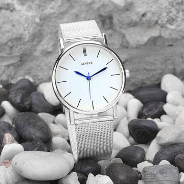 Ladies Silver Sleek Watch