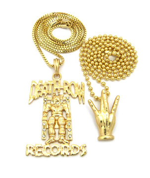 14k Gold Westside Death Row Records 2Pac Inspired Pendant