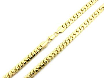 14k Gold 8mm Miami Cuban Link Hip Hop Chain Necklace