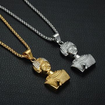 Queen Tiye 14k Gold African Pendant