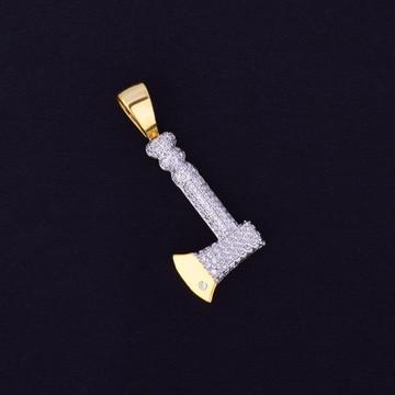 The Axe 14k Gold Lab Diamond Hip Hop Chain Pendant