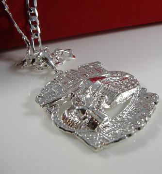 No Limit Records Hip Hop Pendant Chain Silver