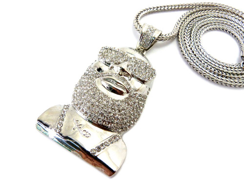 Hip hop rick ross inspired medallion cz chain pendant silver bling hip hop rick ross inspired medallion cz chain pendant silver aloadofball Gallery
