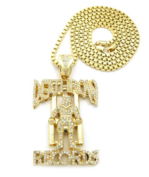 Death row records inspired hip hop chain 14k gold pendant bling jewelz death row records inspired hip hop chain 14k gold pendant aloadofball Image collections