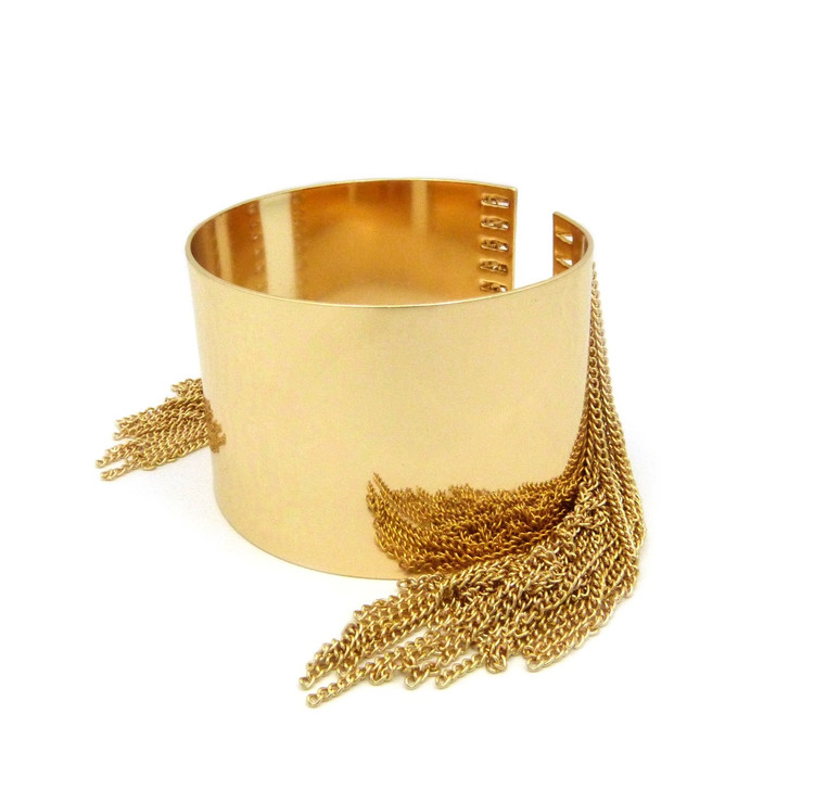Sexy Slave Arm Cuff Bracelet Gold
