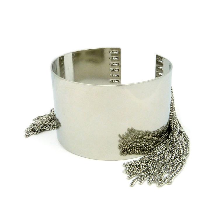 Sexy Slave Arm Cuff Bracelet Silver