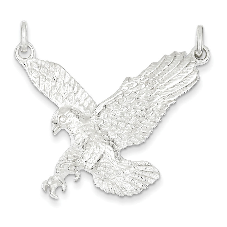 925 Sterling Silver Flying Bald Eagle Pendant
