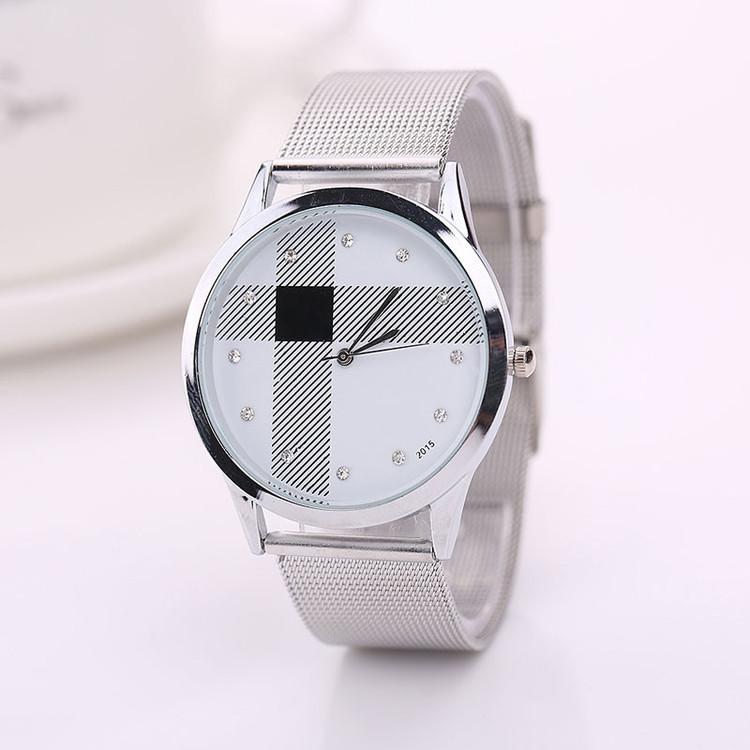 Simulated Diamond Stainless Steel Watch