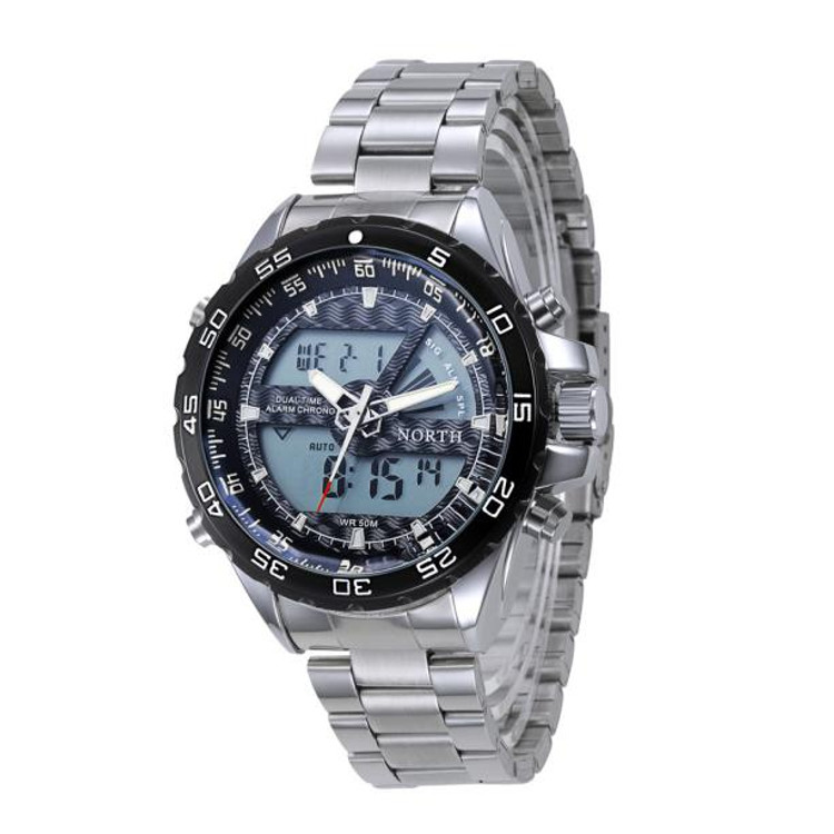 Stainless Steel 316L Digital and Analog High Fashion Men's Watch