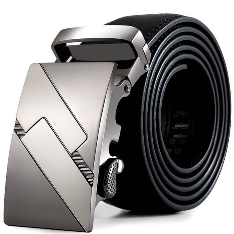 Black Leather Automatic Belt