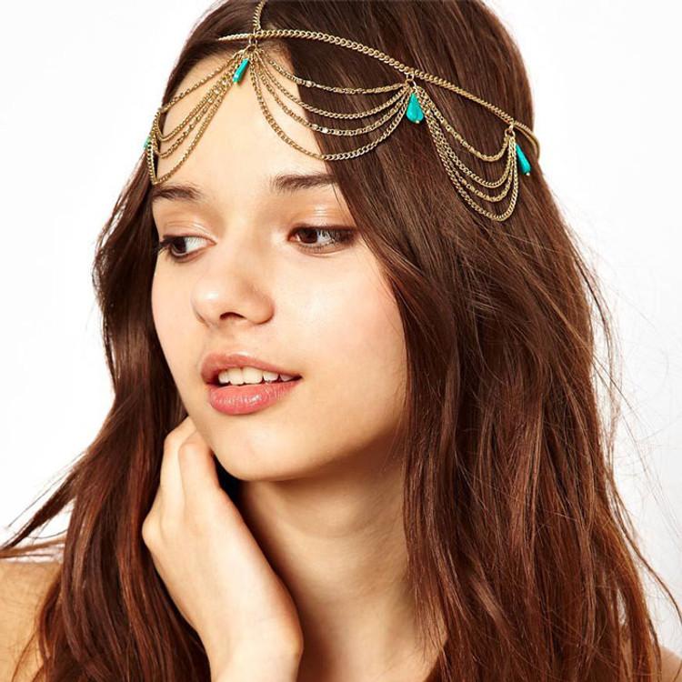 Turquoise Head Chain