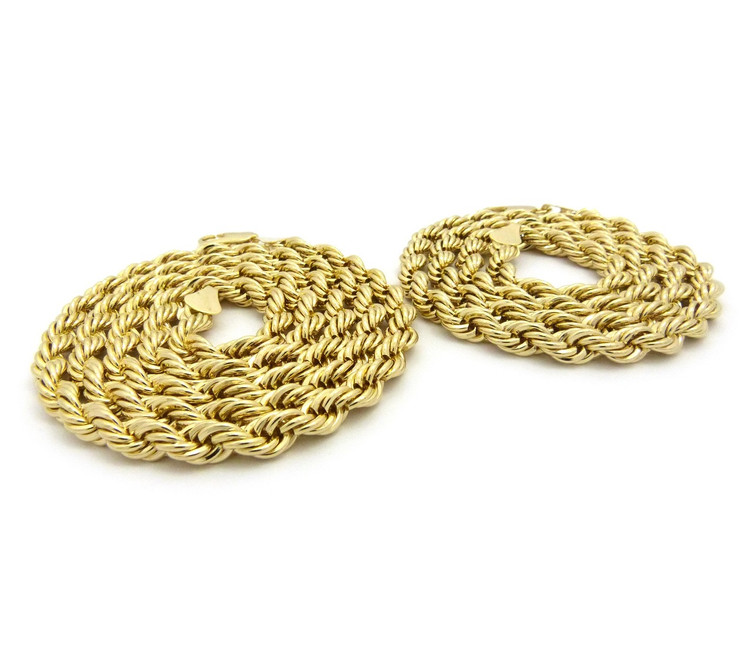 "14k Gold Hip Hop 7mm 24"" & 30 Rope Chain Necklaces"