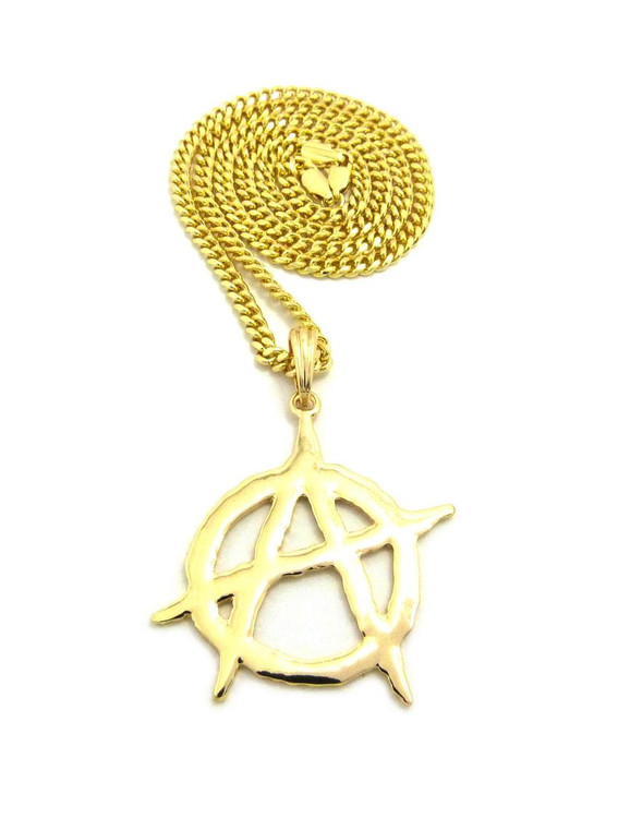 14k Gold Anarchy Pendant