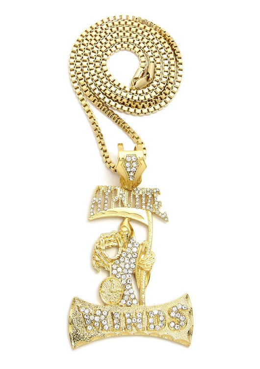 Gold hip hop pendanthip hop jewelry gold iced out jewelry 14k gold iced out hypnotize minds grimm reaper hip hop pendant aloadofball Choice Image