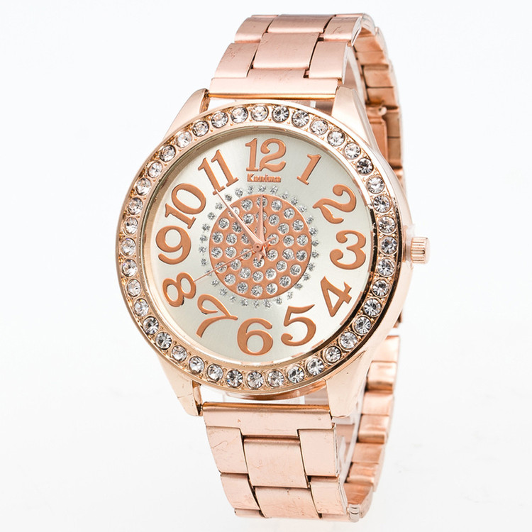 Luxury Boys Stainless Steel Pointer Iced Out Wrist Watch ...
