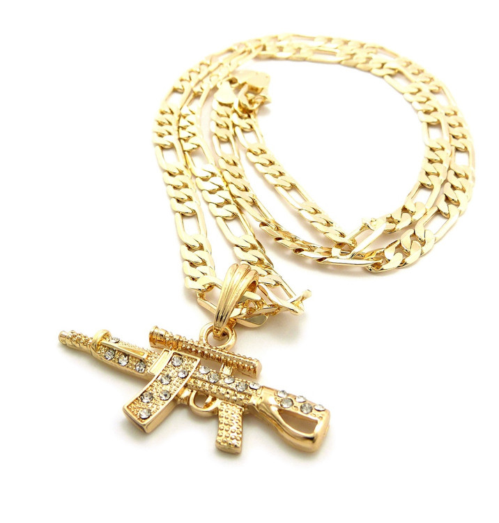 Sub Machine Gun Hip Hop Pendant