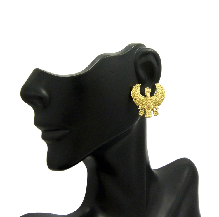 Horus Bird African Egyptian Earrings