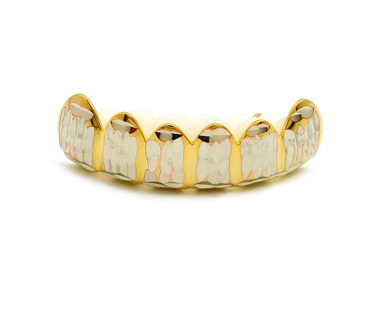 Diamond Cut Bottom Teeth Grillz