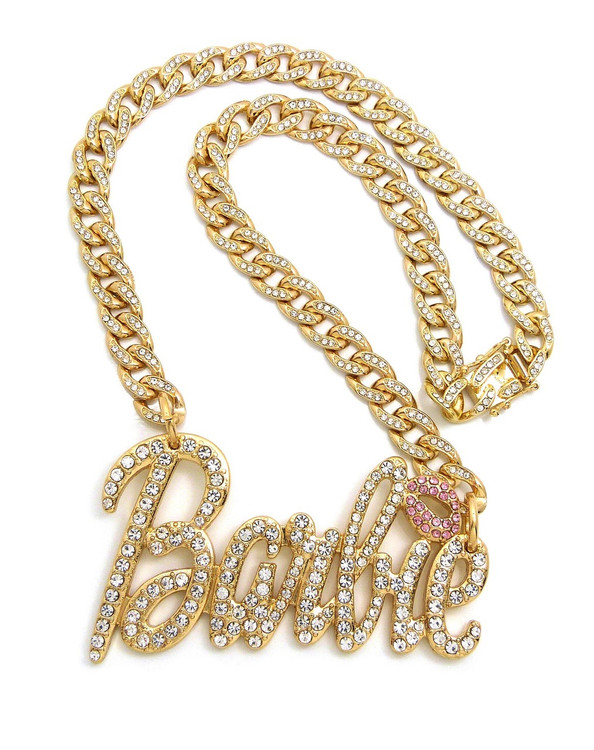 Cuban Link Barbie 14k Gold Bling Chain Necklace