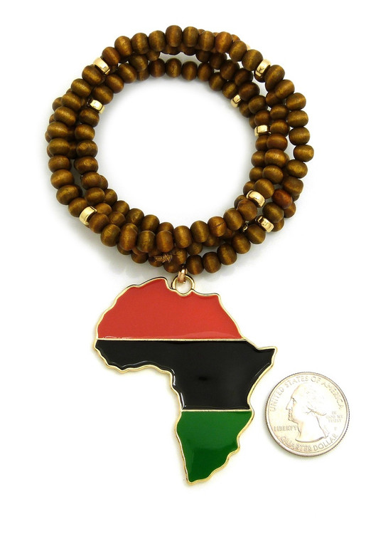 Mother Africa Wooden Bead Chain