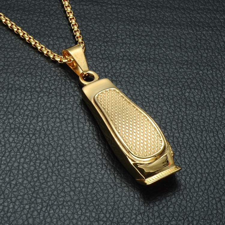 Hip Hop Haircut Clippers Barber Shop 316L Stainless Steel Chain Pendant