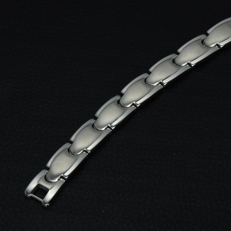 Men's Stainless Steel Bio Elements Energy Germanium Bracelet