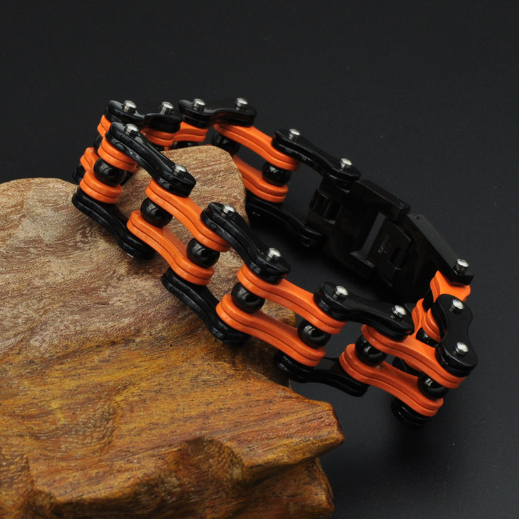 Men's Multilayer Motorcycle Chain Stainless Steel Link Bracelet