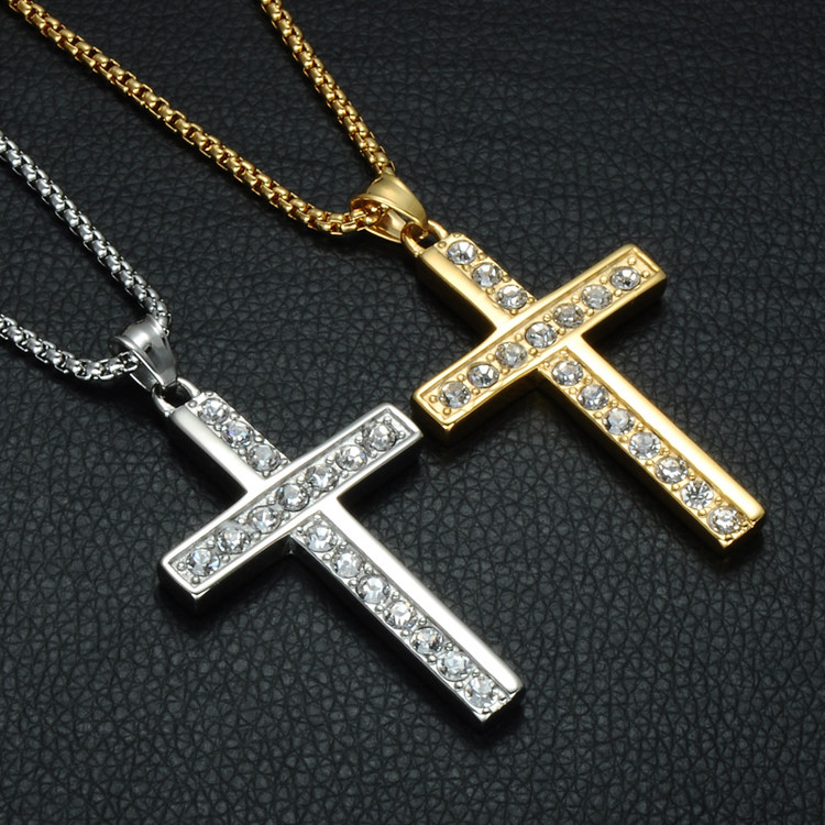 Prayer Cross Pendant Chain Necklace