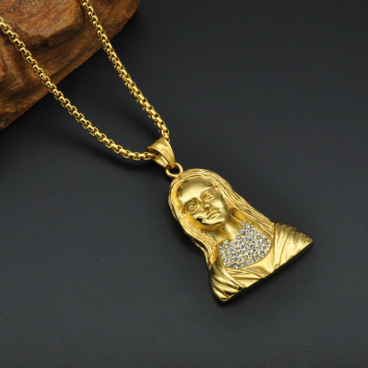 14k Gold Micro Pave Lab Diamond Virgin Mother Chain