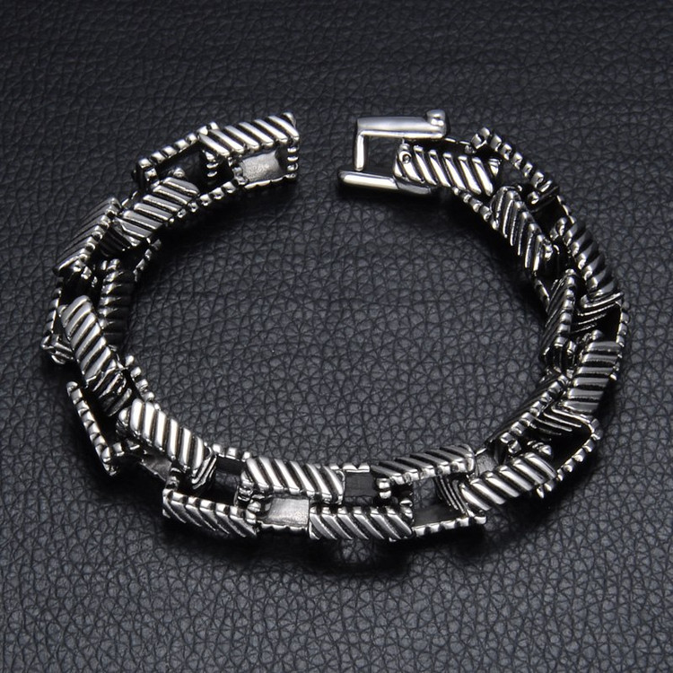 Double Box Link 316L Stainless Steel Bracelet