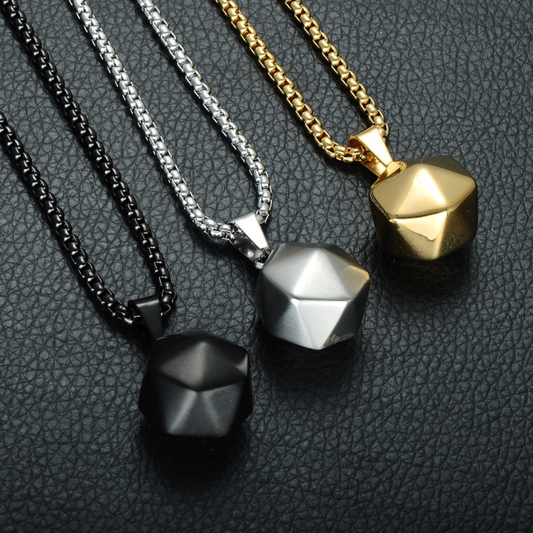 Polyhedron 14k Gold Pendant