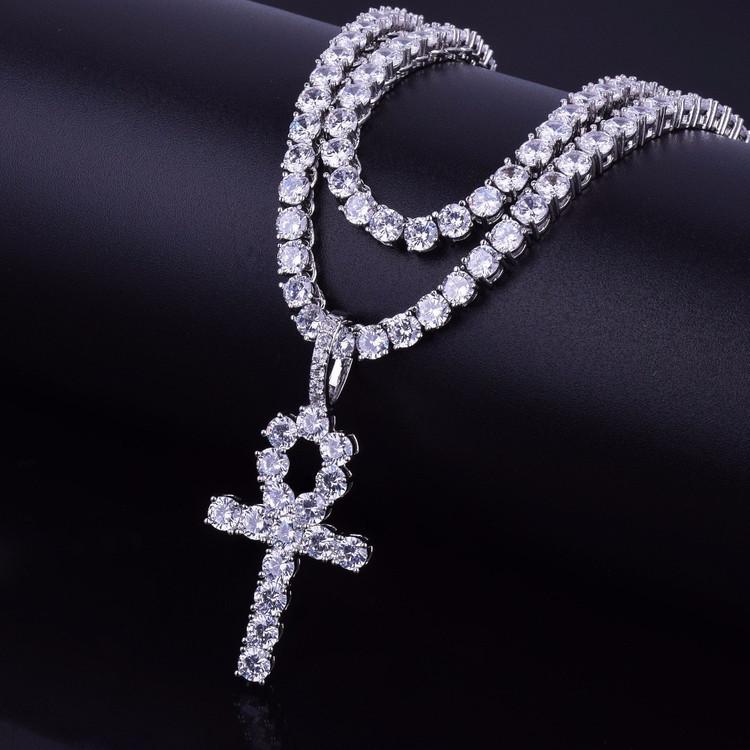 Lab Diamond Ankh Cross