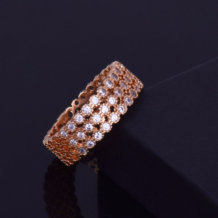 14k Gold Silver Round Luxury Iced Out Ring