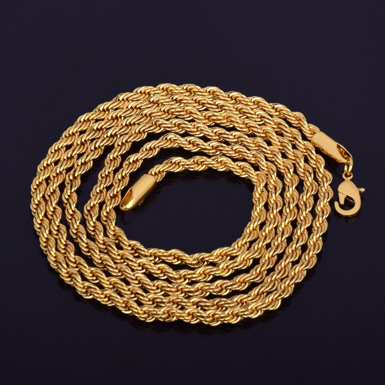 14k Gold Rope Hip Hop Chain